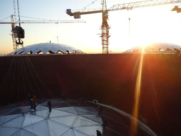 Toit dome géodésique aluminium